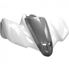 Coque Cache Phare Avant Racing Ventilé Look Carbone MAIER pour Quad Suzuki LT-Z 400 (03-08)