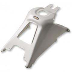 Coque de Réservoir Look Carbone Blanc MAIER pour Quad Suzuki LT-R 450 (06-09)