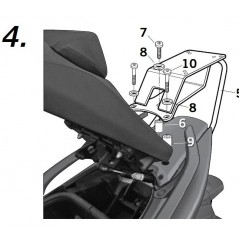 Support Top Case Shad T-MAX 500 XP (08-12)