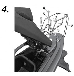 Support Top Case Shad T-MAX 530 (12-16)
