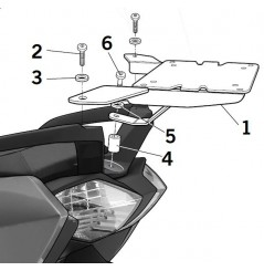 Support Top Case Shad BMW C650 GT (12-17)
