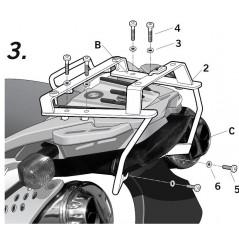 Support Top Case Shad BMW F650 GS de 2004 a 2007 et G650 GS de 2011 a 2013