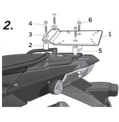 Support Top Case Shad BMW F800 GS (08-18)