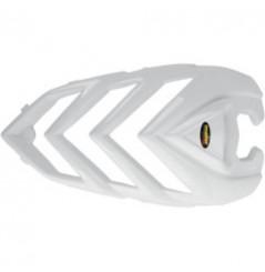 Coque Avant Look Carbone Blanc MAIER pour Quad Yamaha YFM 700 Raptor (06-08)