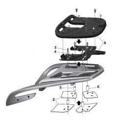 Support Top Case Shad BMW R1200 RT (05-13) K1600 GT (13)