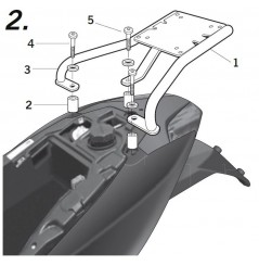 Support Top Case Shad Sportcity One 125 (09-17)