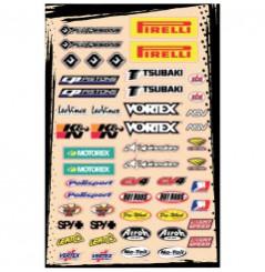 Planche Adhésive Stickers Multi Marques FLU DESIGNS Kit A pour Moto / Quad