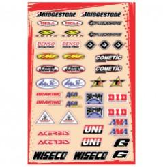 Planche Adhésive Stickers Multi Marques FLU DESIGNS Kit C pour Moto / Quad