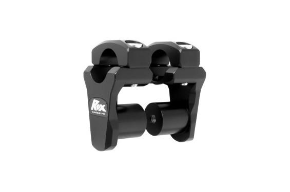 Rehausse de Guidon Pivotante Noir ROX SPEED FX +44mm pour Tés de Fourche ø28.6mm