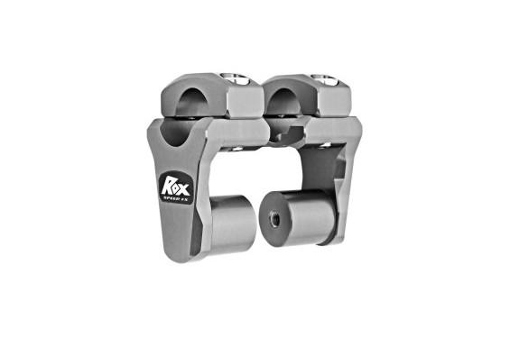 Rehausse de Guidon Pivotante Gris Titanium ROX SPEED FX +51mm pour Tés de Fourche ø28.6mm