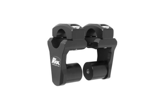 Rehausse de Guidon Pivotante Noir ROX SPEED FX +51mm pour Tés de Fourche ø28.6mm