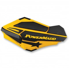 Protèges-Mains Moto / Quad POWERMADD SENTINEL Jaune Can Am - Noir