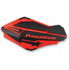 Protèges-Mains Moto / Quad POWERMADD SENTINEL Rouge Polaris - Noir