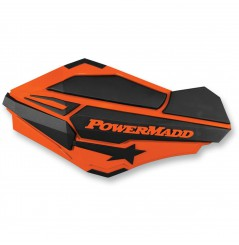 Protèges-Mains Moto / Quad POWERMADD SENTINEL Orange - Noir