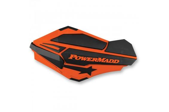 Protèges-Mains Moto / Quad POWERMADD SENTINEL Orange - Noir