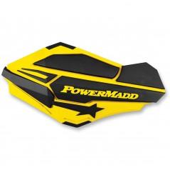 Protèges-Mains Moto / Quad POWERMADD SENTINEL Jaune Suzuki - Noir