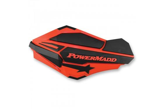 Protèges-Mains Moto / Quad POWERMADD SENTINEL Rouge Honda - Noir