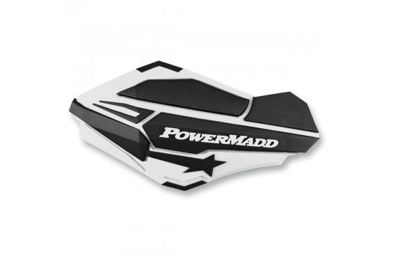 Protèges-Mains Moto / Quad POWERMADD SENTINEL Blanc - Noir