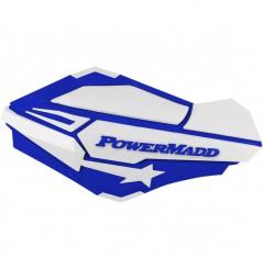 Protèges-Mains Moto / Quad POWERMADD SENTINEL Bleu - Blanc