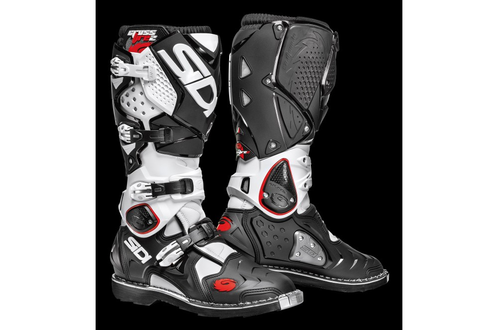 bottes moto cross sidi crossfire 2 blanc noir street moto piece. Black Bedroom Furniture Sets. Home Design Ideas