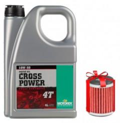 Huile Motorex Off-Road Cross Power 4T 10W50 4 Litres + Filtre à Huile Offert