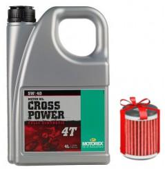 Huile Motorex Cross Power 4T 5W40 4 Litres + Filtre à Huile Offert