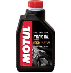Huile Motul Fork Oil Factory Line Very Light 2.5W 1 Litre, pour fourche moto