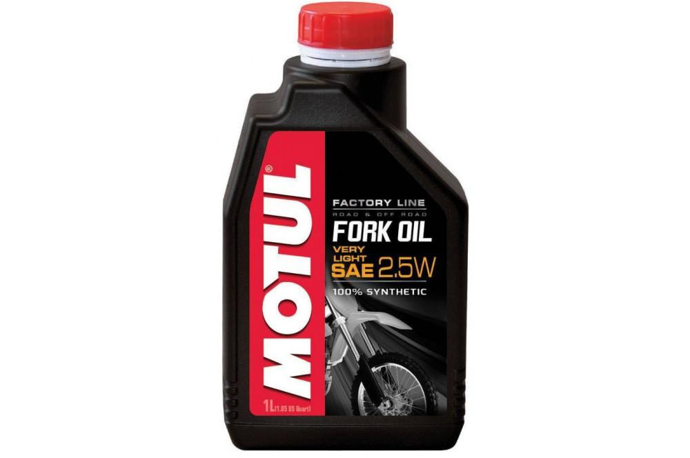 huile motul fork oil factory line very light 2 5w 1 litre pour fourche moto street moto piece. Black Bedroom Furniture Sets. Home Design Ideas