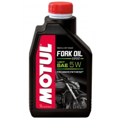 Huile Motul Fork Oil Expert Light 5W 1 Litre, pour fourche moto