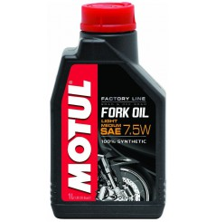 Huile Motul Fork Oil Factory Line Light / Medium 7.5W 1 Litre, pour fourche moto