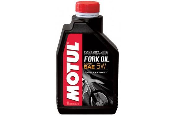 Huile Motul Fork Oil Factory Line Light 5W 1 Litre, pour fourche moto