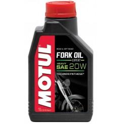 Huile Motul Fork Oil Heavy 20W 1 Litre, pour fourche moto