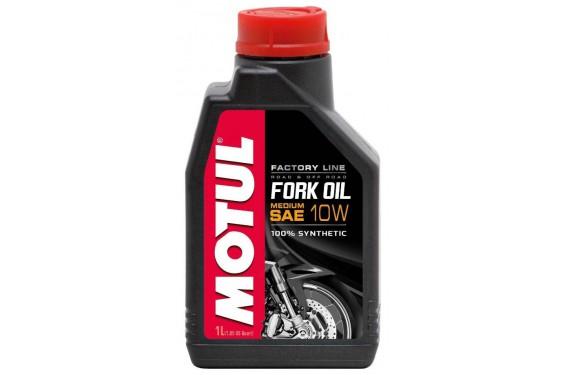 Huile Motul Fork Oil Factory Line Medium 10W 1 Litre, pour fourche moto