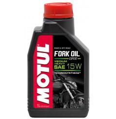 Huile Motul Fork Oil Expert Medium / Heavy 15W 1 Litre, pour fourche moto