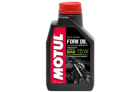 Huile Motul Fork Oil Expert Medium/Heavy 15W 1 Litre, pour fourche moto