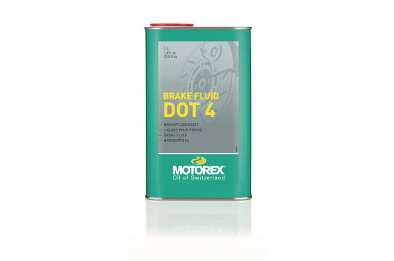 Liquide de frein Motorex Brake Fluid DOT 4 pour Moto 1 Litre