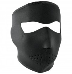 Masque Facial Néoprène ZANHEADGEAR Black Small Moto - Quad - Scooter