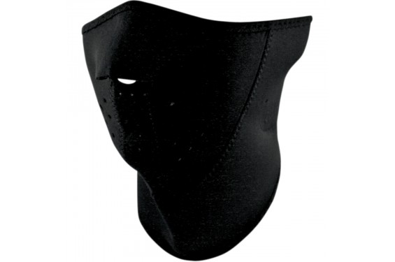 1/2 Masque Facial Néoprène 3 Couches ZANHEADGEAR Black Moto - Quad - Scooter