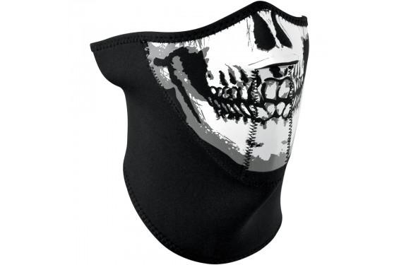 1/2 Masque Facial Néoprène 3 Couches ZANHEADGEAR Skull Face Moto - Quad - Scooter