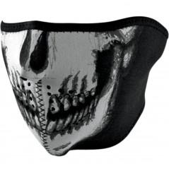 1/2 Masque Facial Néoprène ZANHEADGEAR Skull Face Phosphorescent Moto - Quad - Scooter