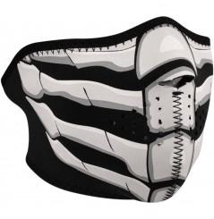 1/2 Masque Facial Néoprène ZANHEADGEAR Bone Breath Phosphorescent Moto - Quad - Scooter