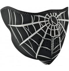 1/2 Masque Facial Néoprène ZANHEADGEAR Spider Web Moto - Quad - Scooter