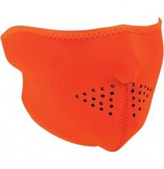 1/2 Masque Facial Néoprène ZANHEADGEAR Jaune - Orange Moto - Quad - Scooter