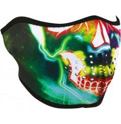 1/2 Masque Facial Néoprène ZANHEADGEAR Neon Skull Moto - Quad - Scooter