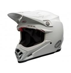 Casque Moto Cross BELL MOTO-9 FLEX SOLID Blanc