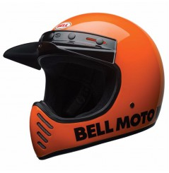 Casque Moto Cross BELL MOTO-3 CLASSIC NEON Orange 2021