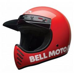Casque Moto Cross BELL MOTO 3 CLASSIC Rouge