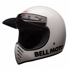 Casque Moto Cross BELL MOTO 3 CLASSIC Blanc 2020