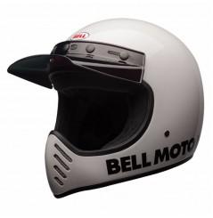 Casque Moto Cross BELL MOTO 3 CLASSIC Blanc