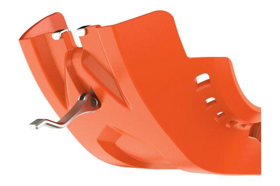 Sabot avec Protection de Biellette Polisport Fortress PHD Orange/Blanc/Noir pour KTM SX-F250 (16-18) SX-F350 (16-18)